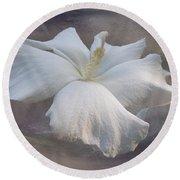 Delicate Hibiscus Round Beach Towel