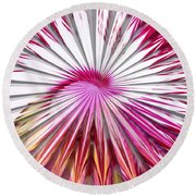 Delicate Orchid Blossom - Abstract Round Beach Towel