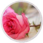 Delicate Rose Round Beach Towel