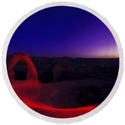Delicate Twilight Round Beach Towel