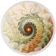 Delicate Wave Round Beach Towel