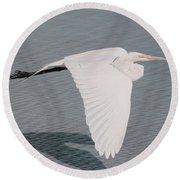 Delicate Wings In Flight Round Beach Towel