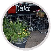 Delice Round Beach Towel