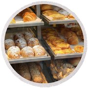Delicious Pastries In Brussels Round Beach Towel
