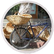Delivery Bike Round Beach Towel