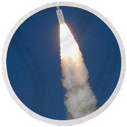 Delta II Rocket Round Beach Towel