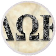 Delta Omega Epsilon - Parchment Round Beach Towel