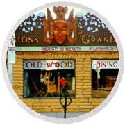 Delusions Of Grandeur Bank St Furniture Art Store On The Glebe Paintings Of Ottawa Scenes C Spandau Round Beach Towel
