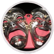 Masques / Tragedy/comedy Masks Round Beach Towel