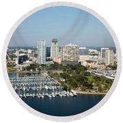 Demens Landing St Petersburg Round Beach Towel