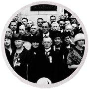 Democractic Delegates, 1920 Round Beach Towel