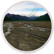 Denali National Park 3 Round Beach Towel