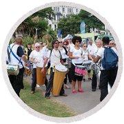 Dende Nation Samba Drum Troupe Round Beach Towel