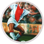 Dennis Bergkamp 2 Round Beach Towel by Paul Meijering