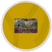 Dense Cloudy Weather Round Beach Towel
