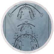 Dental Braces Patent Design Round Beach Towel