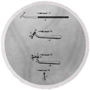 Dental Instrument Patent Drawing Round Beach Towel