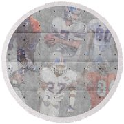 Denver Broncos Legends Round Beach Towel
