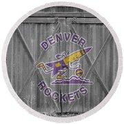 Denver Rockets Round Beach Towel