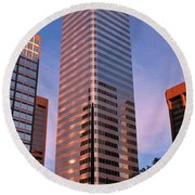 Denver Skyscraper Round Beach Towel