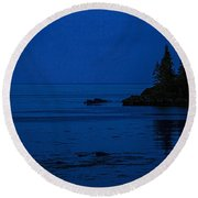 Departure Before First Light Round Beach Towel