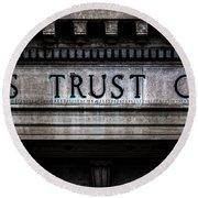 Depositors Trust Company Round Beach Towel
