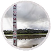 Depth Measuring Stick Lake Lagunita Stanford University Round Beach Towel
