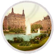 Der Deutsche Ring-cologne-the Rhine-germany -  Between 1890 And  Round Beach Towel