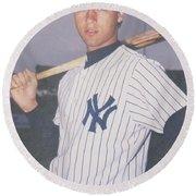 Derek Jeter New York Yankees Round Beach Towel