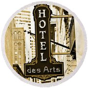 Art Hotel Round Beach Towel