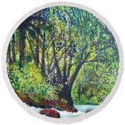 Descenso Turbulento Round Beach Towel