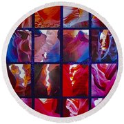 Descent Into Heaven Assemblage In Lower Antelope Canyon In Lake Powell Navajo Tribal Park In Page-az Round Beach Towel