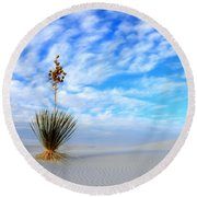 Desert Beauty White Sands New Mexico Round Beach Towel
