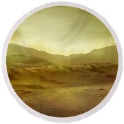 Desert Round Beach Towel
