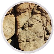 Desert Face 2 Round Beach Towel