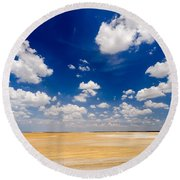 Desert Flatlands Round Beach Towel