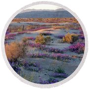 Desert In Bloom Round Beach Towel
