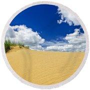 Desert Landscape In Manitoba Round Beach Towel
