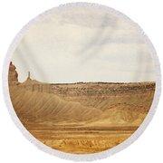 Desert Landscape2 Round Beach Towel