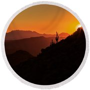 Desert Light Round Beach Towel by Rick Furmanek