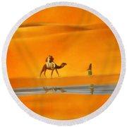 Desert Mirage Round Beach Towel