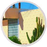 Desert Modern 7 Lakes Palm Springs Round Beach Towel