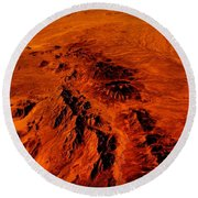 Desert Of Arizona Round Beach Towel