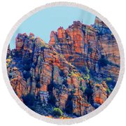 Desert Paint Round Beach Towel
