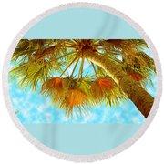 Desert Palm Round Beach Towel