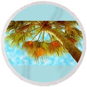Desert Palm Round Beach Towel