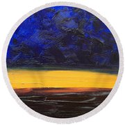 Desert Plains Round Beach Towel