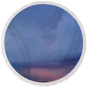 Desert Rainstorm 3 Round Beach Towel