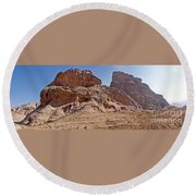 Desert Ship Round Beach Towel