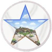 Desert Star Round Beach Towel